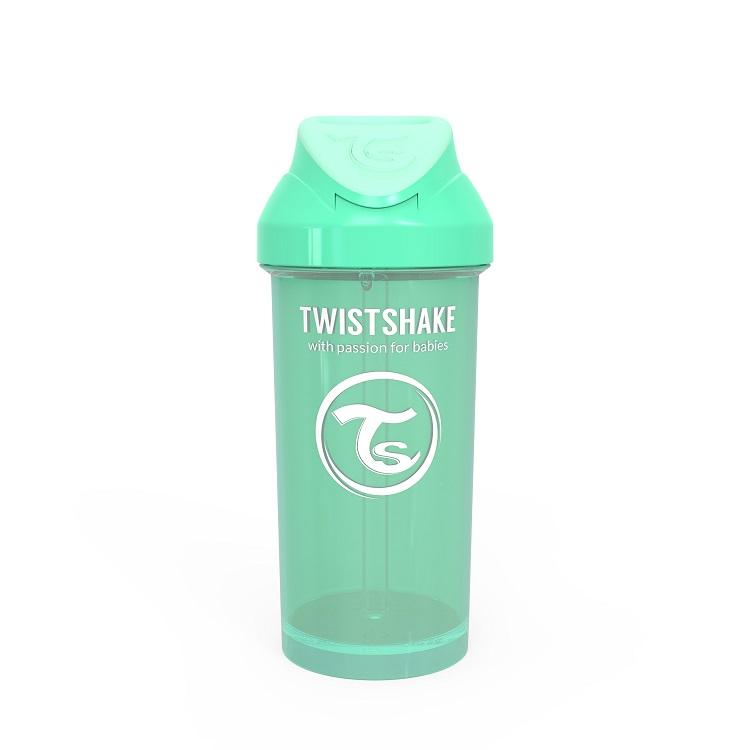 Vaso con Bombilla Twistshake Straw Cup 360ml 12m Verde