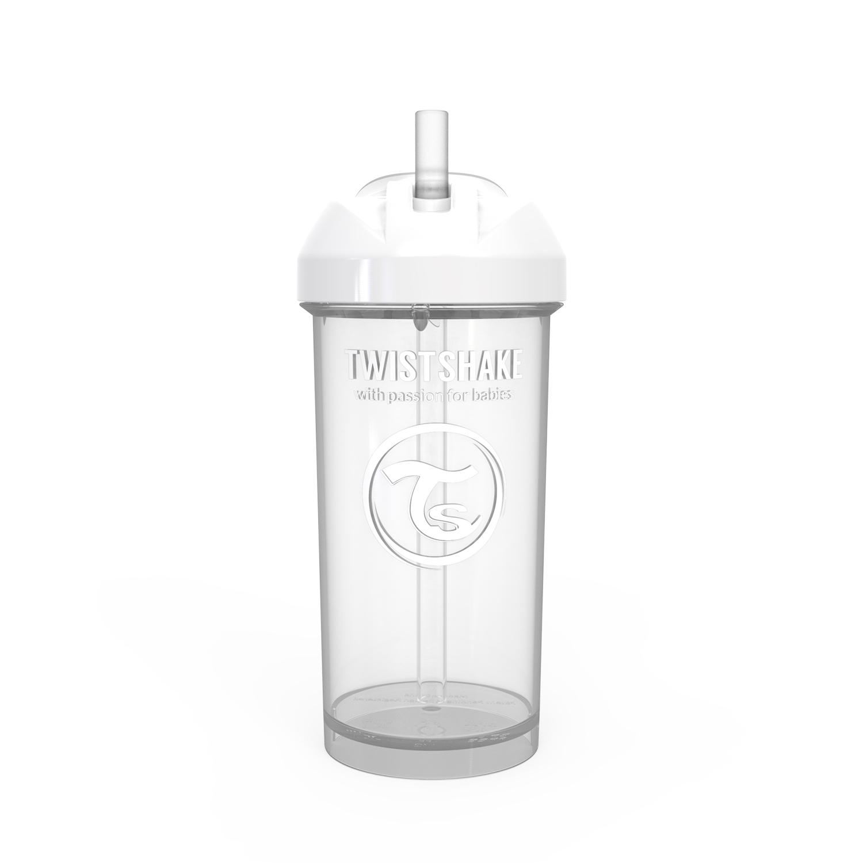 Vaso con Bombilla Twistshake Straw Cup 360ml 12m Blanco