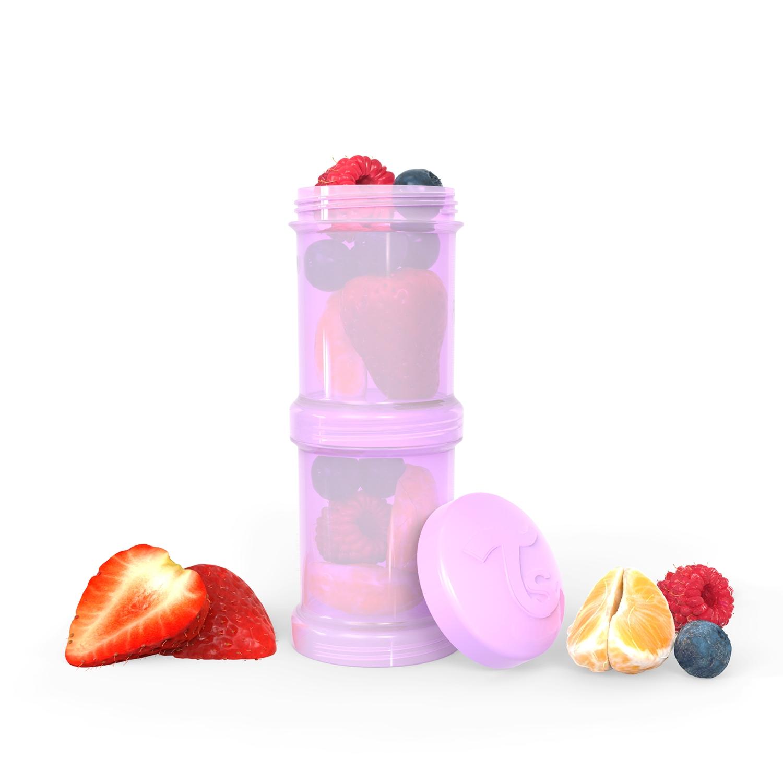 Contenedor de alimentos Twistshake Container 2x 100ml Violeta