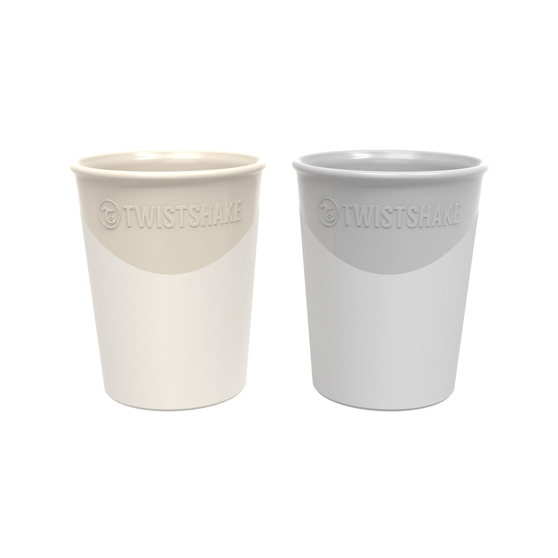 Vasos Twistshake 2x Cup 170ml 6 m Gris Beige