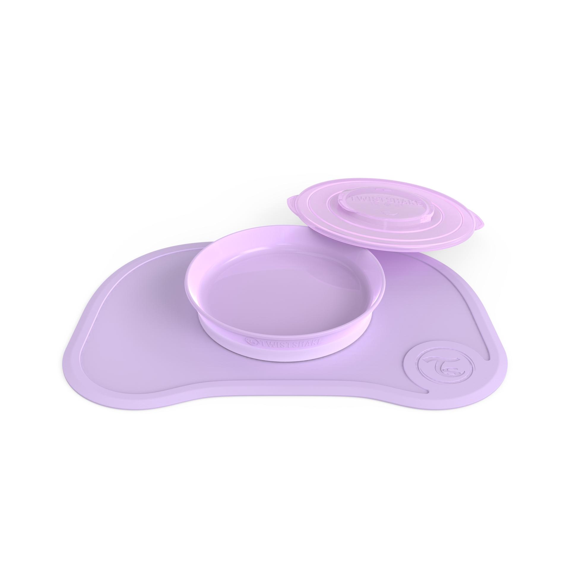 Individual Twistshake Click Mat Plate 6 m Violeta