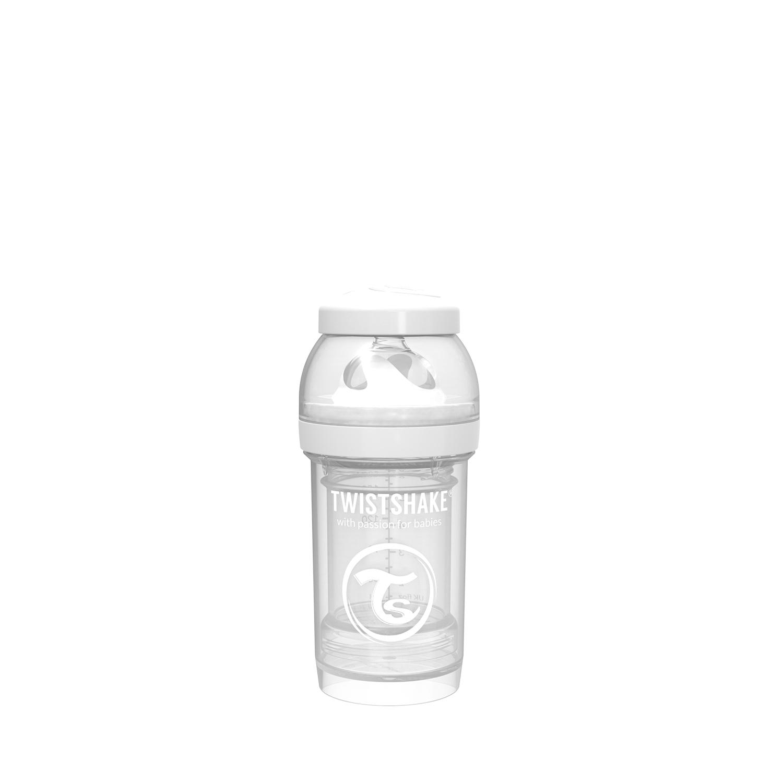 Mamadera Twistshake Anti-Colic 180ml Blanco