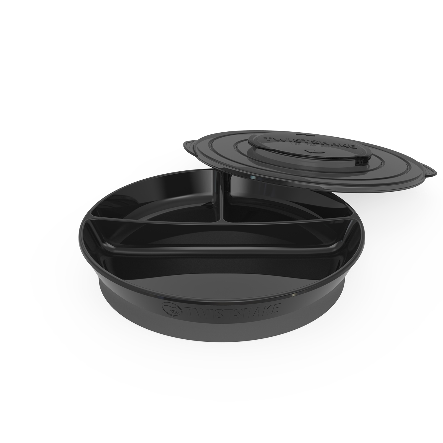 Plato Twistshake Divided Plate 6 m Negro