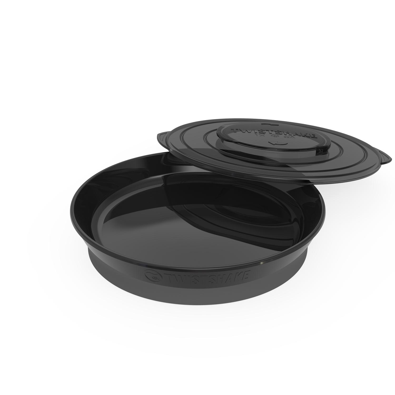 Plato Twistshake Plate 6 m Negro