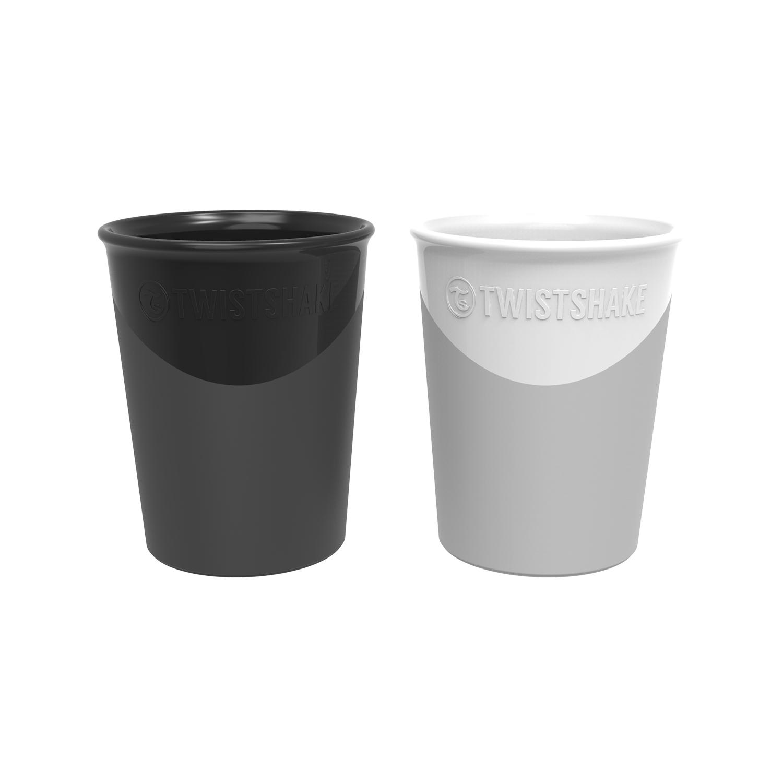 Vasos Twistshake 2x Cup 170ml 6 m Negro Blanco