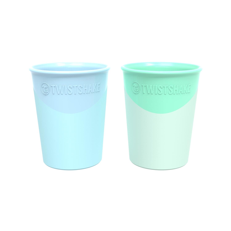Vasos Twistshake 2x Cup 170ml 6 m Azul Verde
